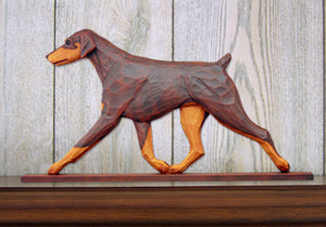 Doberman Natural Dog in Gait Topper Red and Tan