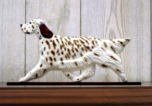 English Setter Dog in Gait Topper Blue Belton