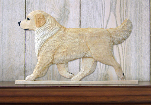 Golden Retriever Show Dog in Gait Topper Cream