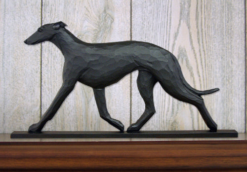 Greyhound Dog in Gait Topper Black