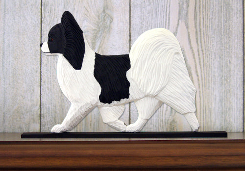 Papillon Dog in Gait Topper Black and White