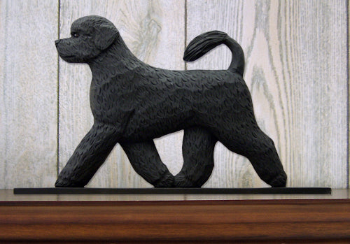 Portuguese Water Dog Dog in Gait Topper Black