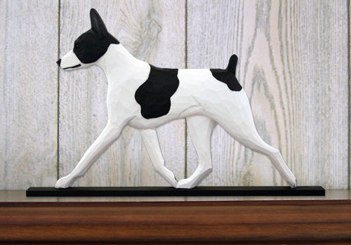 Rat Terrier Dog in Gait Topper Black and White