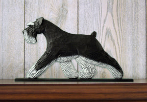 Schnauzer Natural Dog in Gait Topper Black and Silver