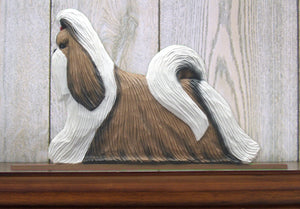 Shih Tzu Dog in Gait Topper Brown and White