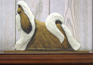 Shih Tzu Dog in Gait Topper Gold and White