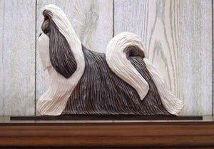 Shih Tzu Dog in Gait Topper Silver and White