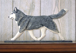 Siberian Husky Dog in Gait Topper Grey and White