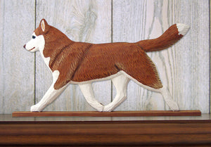 Siberian Husky Dog in Gait Topper Red and White