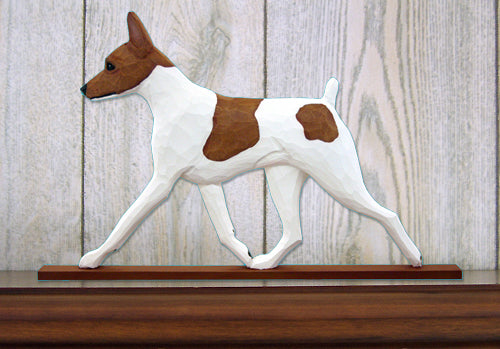 Toy Fox Terrier Dog in Gait Topper Black and White