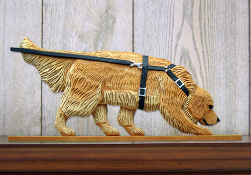 Golden Retriever Tracking Dog in Gait Topper Cream
