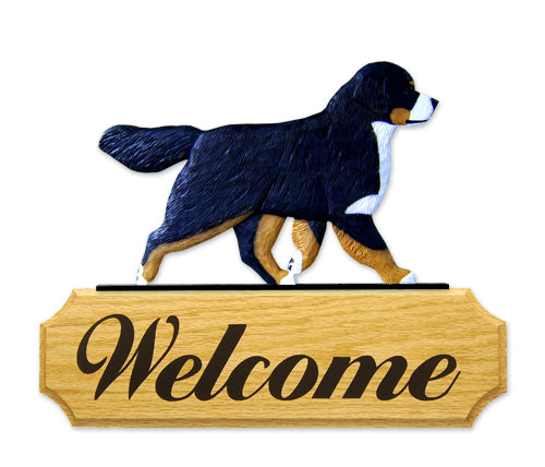 Bernese Mountain Dog in Gait Yard Welcome Sign