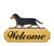 Dachshund Smooth Dog in Gait Yard Welcome Sign Black and Tan
