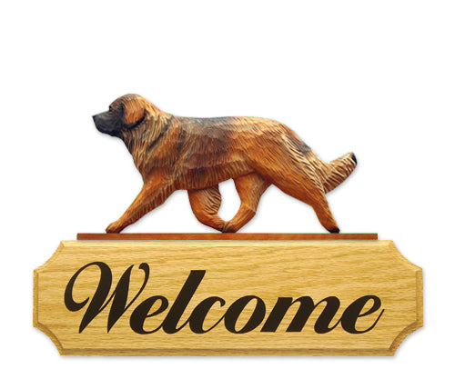 Leonberger Dog in Gait Yard Welcome Sign