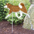 Alaskan Malamute Garden Landscaping Stake Red and White