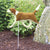Beagle Garden Landscaping Stake Red and White