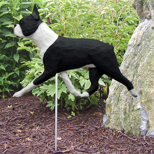 Boston Terrier Garden Landscaping Stake Black