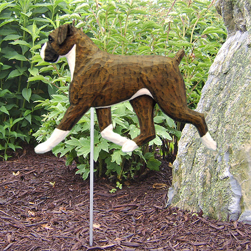 Boxer (natural) Garden Landscaping Stake Brindle