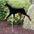 Doberman Garden Landscaping Stake Black and Tan