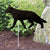 German Shepherd Garden Landscaping Stake Black