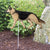 German Shepherd Garden Landscaping Stake Tan with Black Saddle