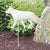 German Shepherd Garden Landscaping Stake White