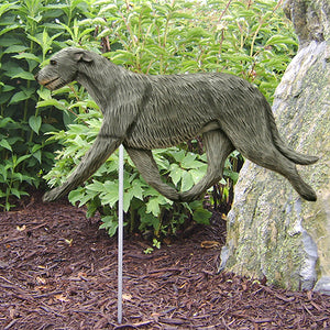 Irish Wolfhound Garden Landscaping Stake Grey