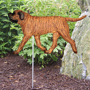 Mastiff Garden Landscaping Stake Apricot Brindle