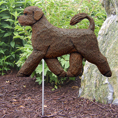 Portuguese Water Dog Garden Landscaping Stake Black