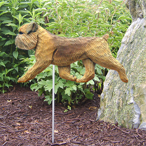 Brussels Griffon (natural) Garden Landscaping Stake Beige
