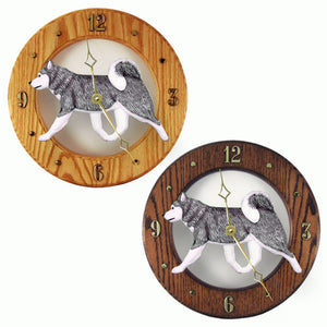 Alaskan malamute Dog Style Analog Clock