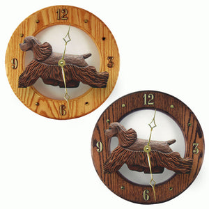 American cocker spaniel Hand Painted Dog Wood Clock Face