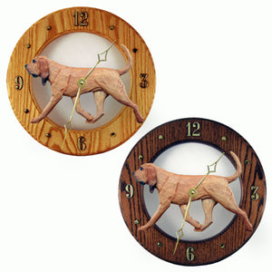 Bloodhound Hand Painted Dog Wood Clock Face