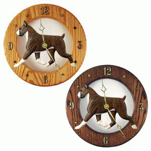 Boxer Hand Painted Dog Wood Clock Face