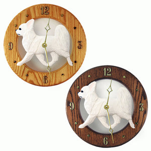 Chihuahua longhair Custom Hand Crafted Wood Clock
