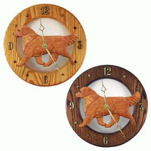 Golden retriever Hand Painted Dog Wood Clock Face