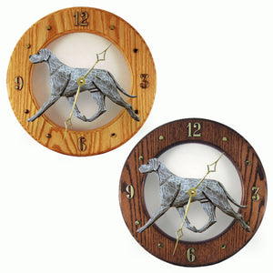 Great dane Natural Hand Painted Dog Wood Clock Face