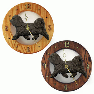Havanese Hand Painted Dog Wood Clock Face