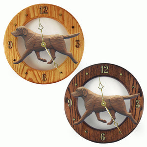 Labrador retriever Hand Carved Wood Hands to tell Time