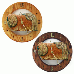Pekingese Hand Carved Wood Hands to tell Time