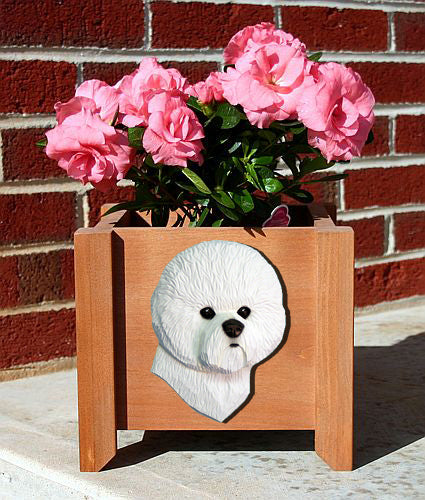 Bichon Frise Dog Planter Box