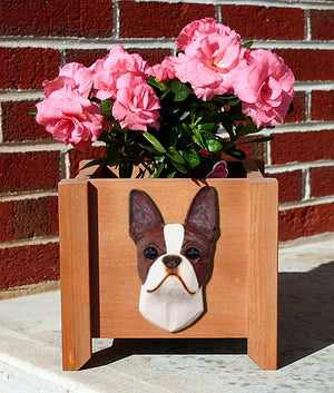 Boston Terrier Dog Planter Box Seal