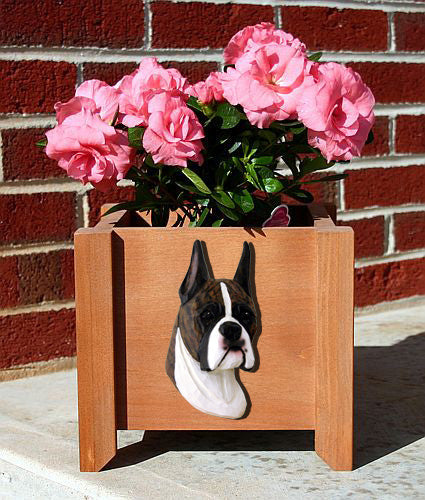 Boxer Dog Planter Box Brindle