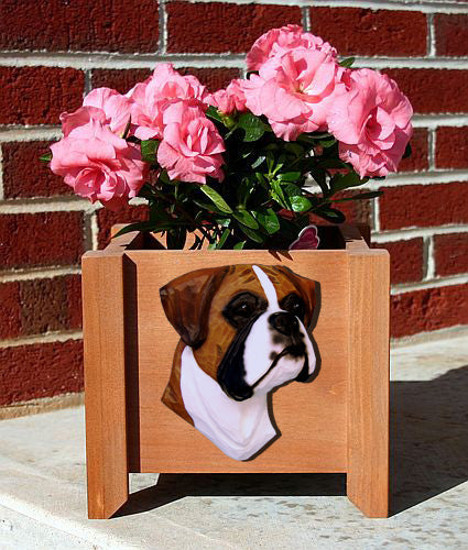 Boxer Natural Dog Planter Box Brindle