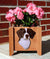Brittany Dog Planter Box Liver