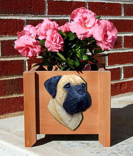 Bullmastiff Dog Planter Box Brindle