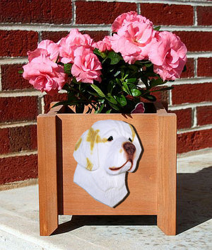Clumber Spaniel Dog Planter Box Orange