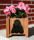 English Cocker Spaniel Dog Planter Box Black
