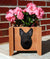 German Shepherd Dog Planter Box Black