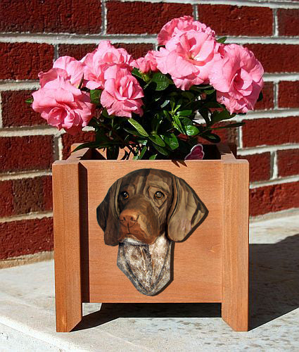 German Shorthaired Pointer Dog Planter Box